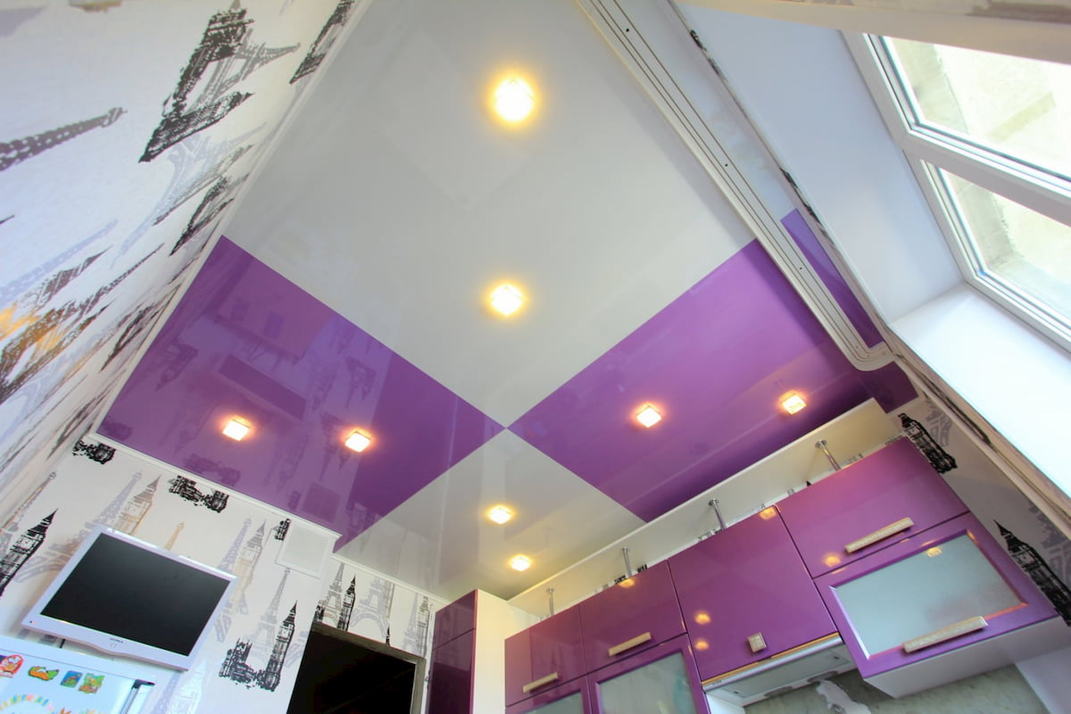 Двухцветный потолок #17