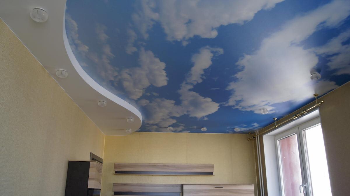 Потолок «Небо с облаками» #1
