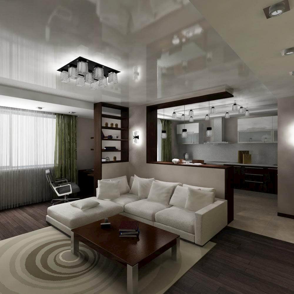 Потолок для гостиной-студии #1
