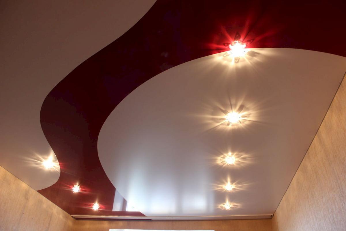 Двухцветный потолок #7