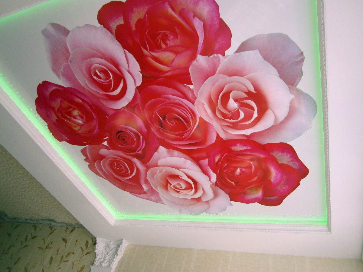Потолок с цветами #11