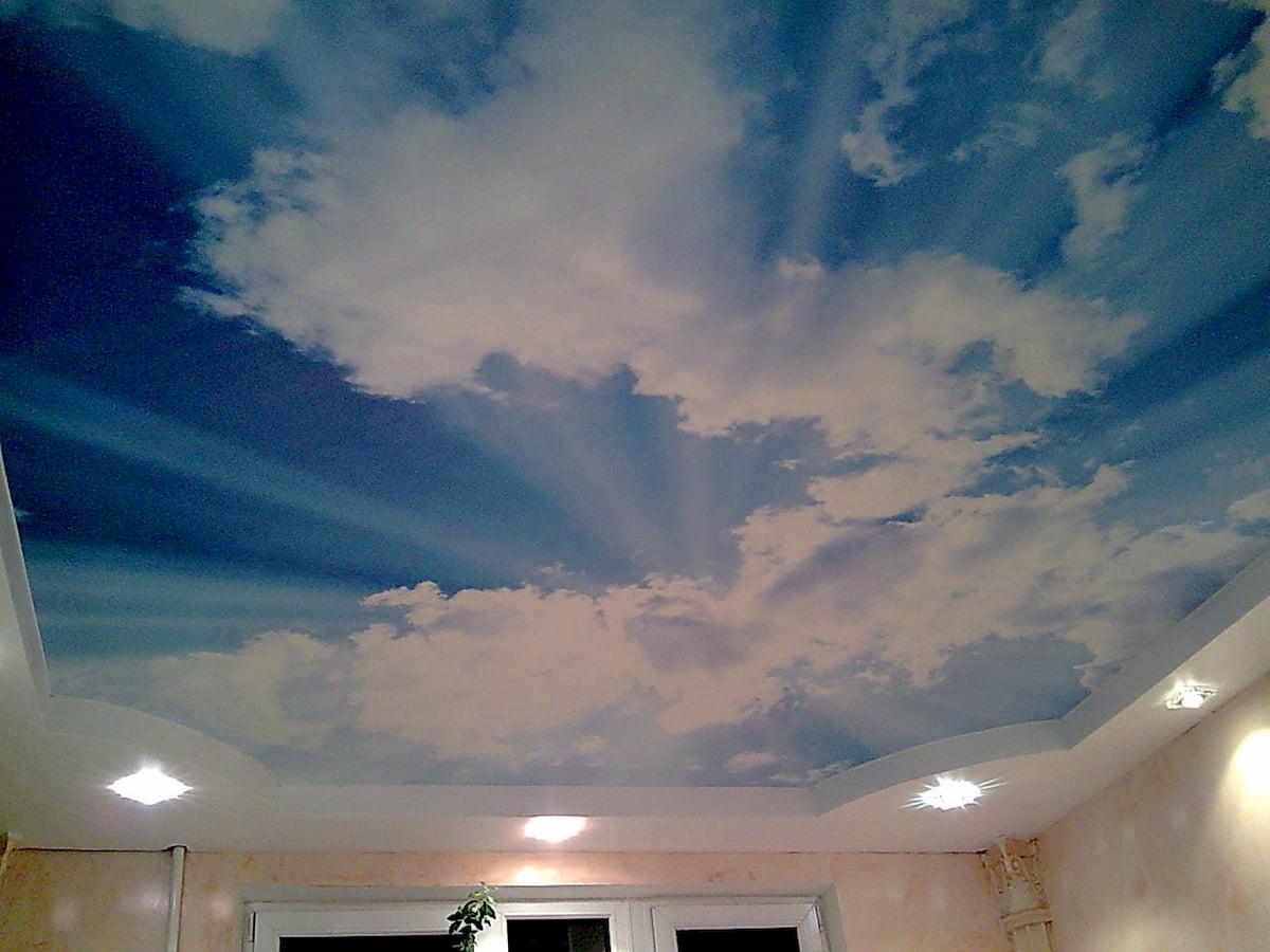 Потолок «Небо с облаками» #12