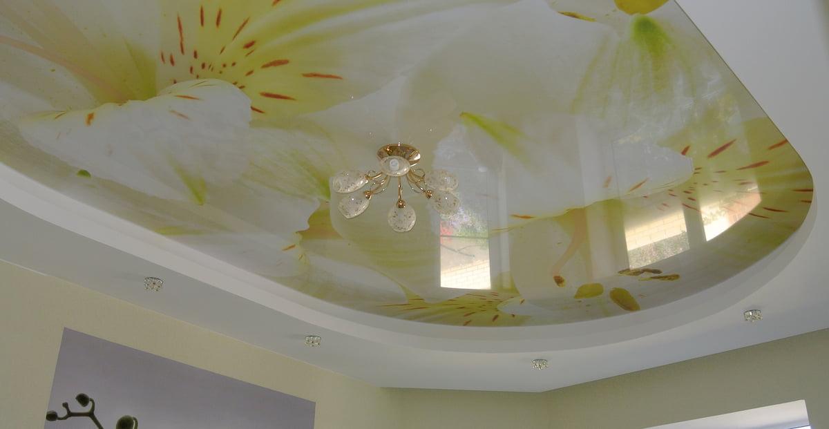 Потолок с цветами #12