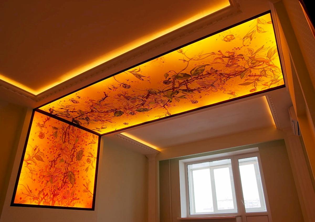 Светящийся изнутри потолок #13