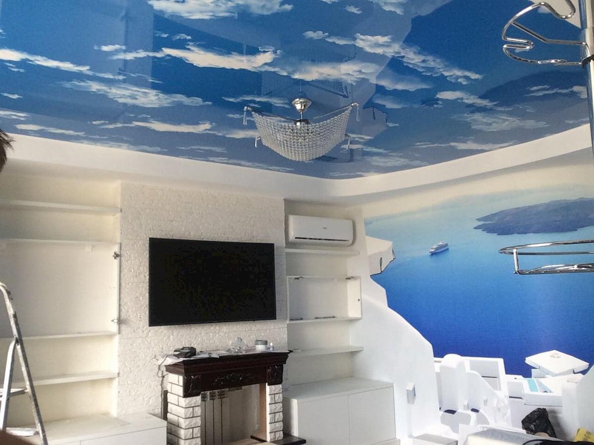 Потолок «Небо с облаками» #15