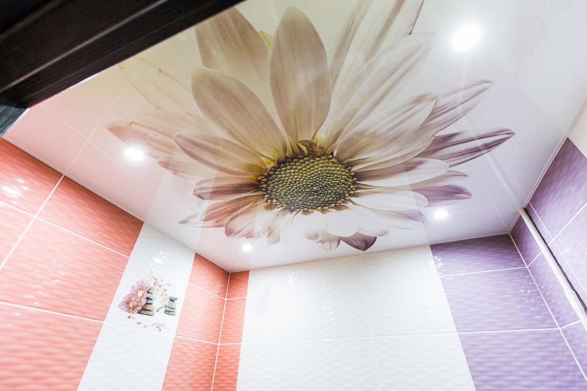 Потолок с цветами #15