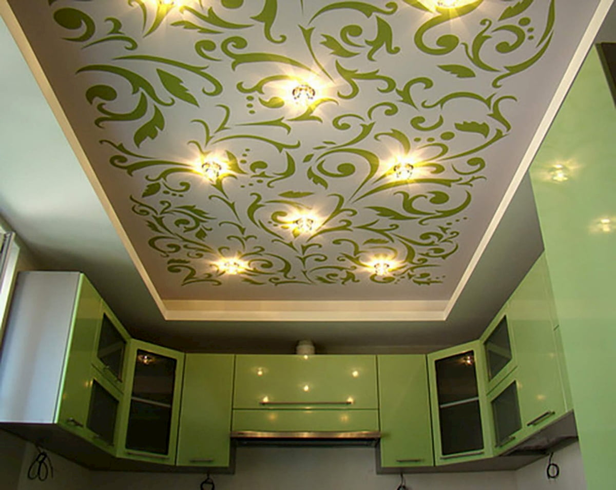 Современный потолок #15
