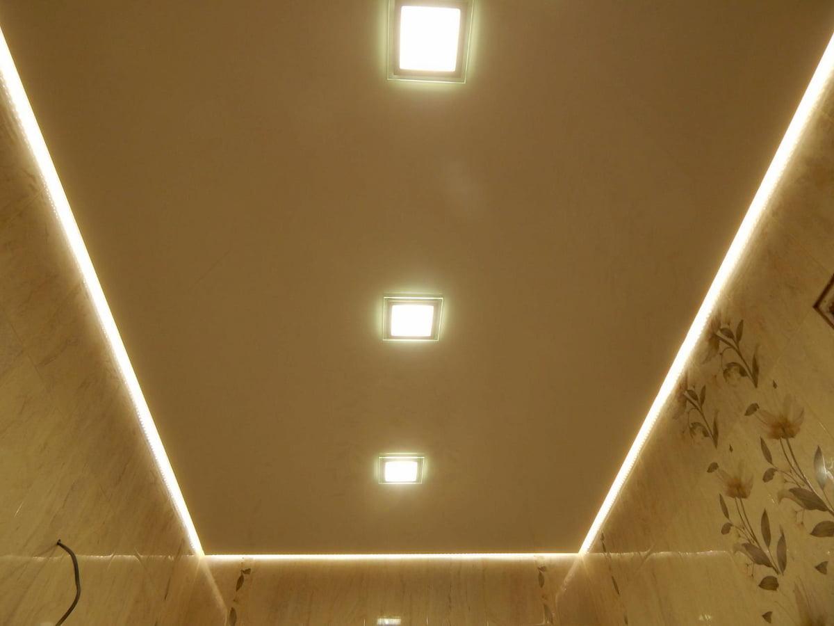 Светодиодный потолок с LED подсветкой #17