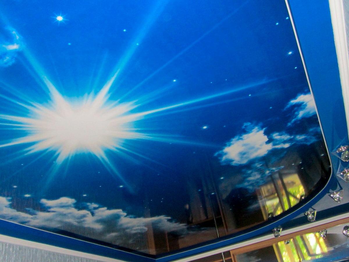 Потолок «Небо с облаками» #3