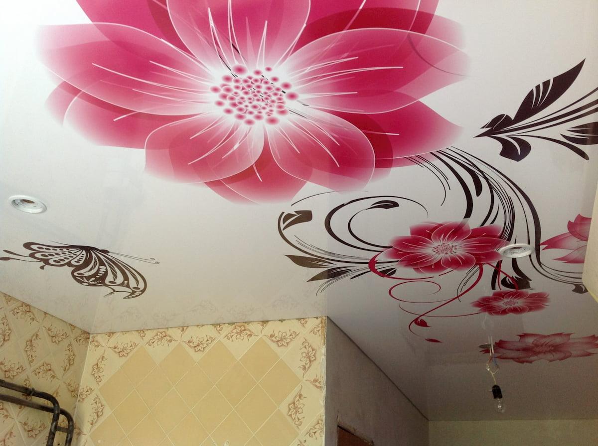 Потолок с цветами #4