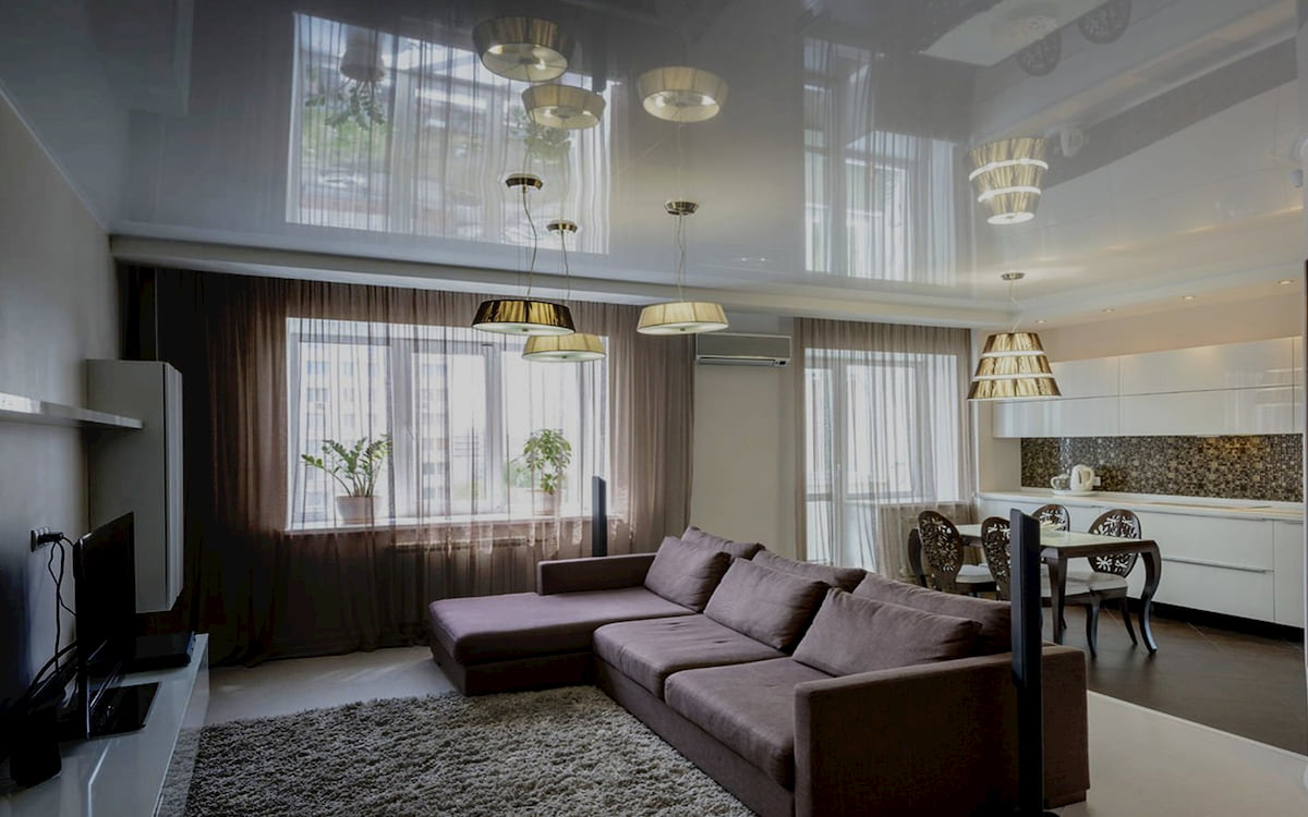 Потолок для гостиной-студии #4