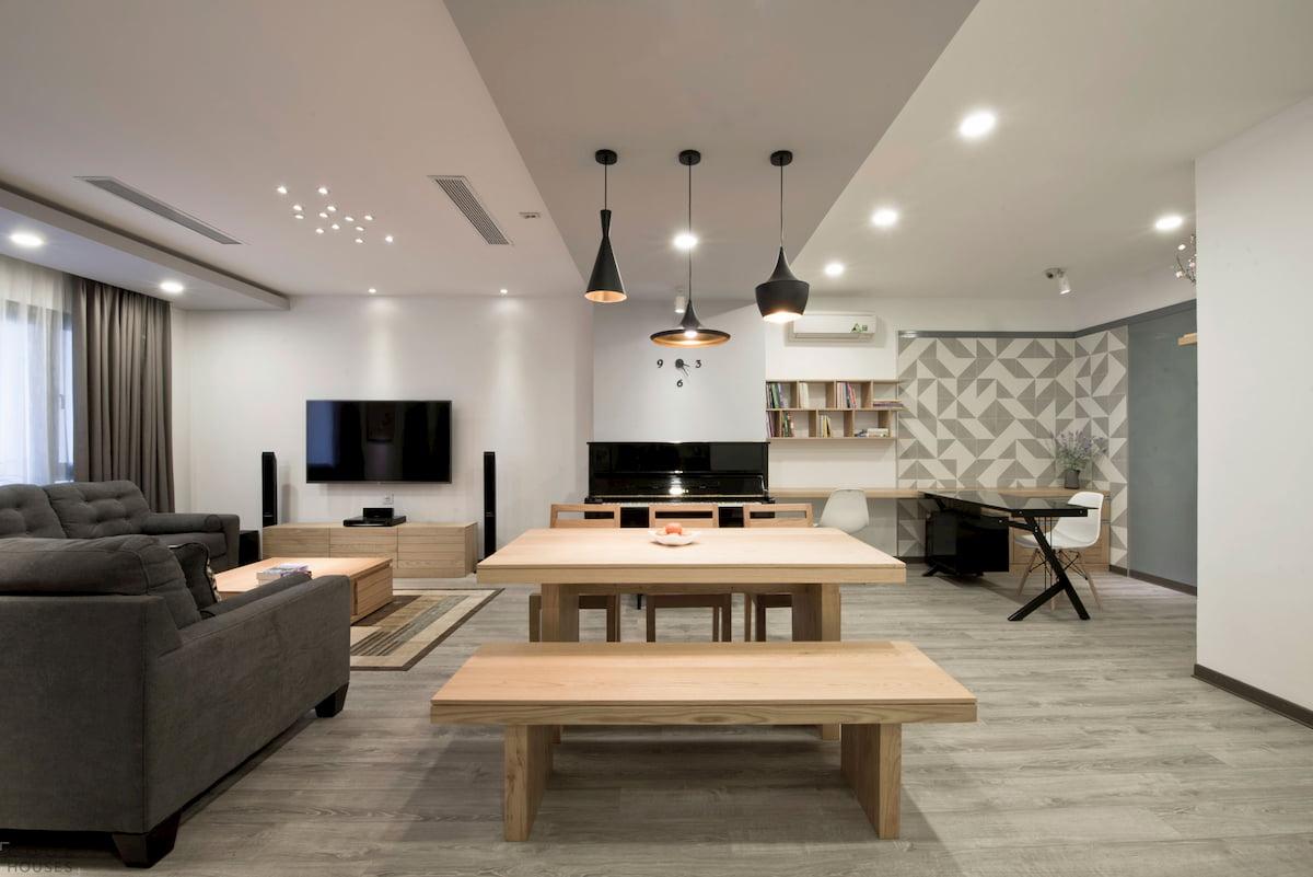 Потолок для гостиной-студии #7