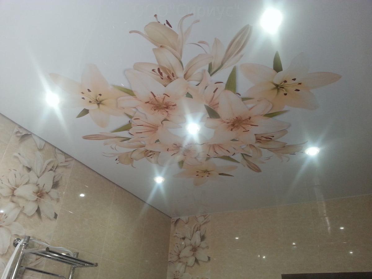 Потолок с цветами #8