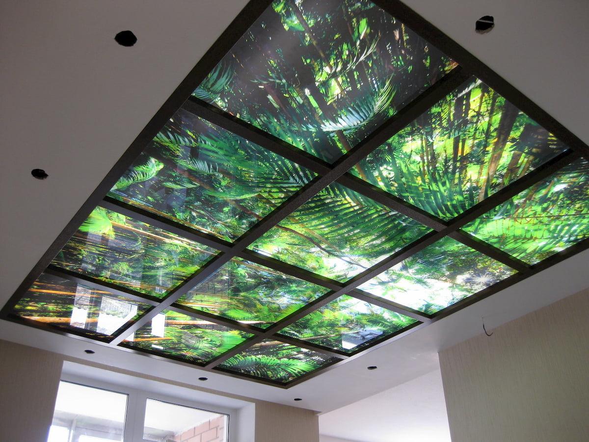 Светящийся изнутри потолок #8